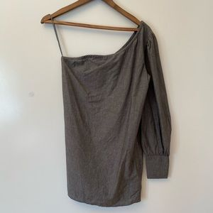 Lovers + friends gray one sleeve shirt
